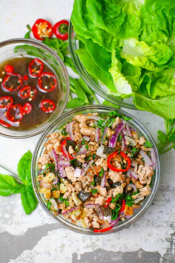 Thai Pork Lettuce Wraps -ready in just 30 minutes!