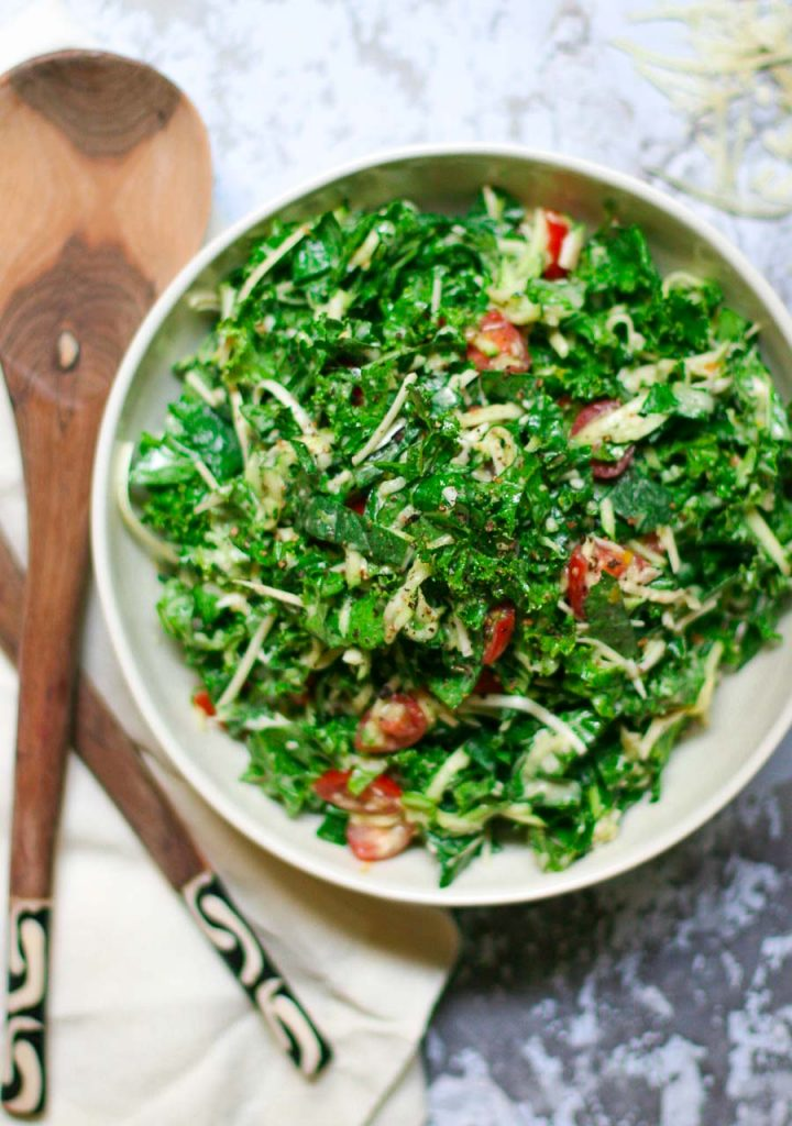 Kale Slaw with Creamy Dressing