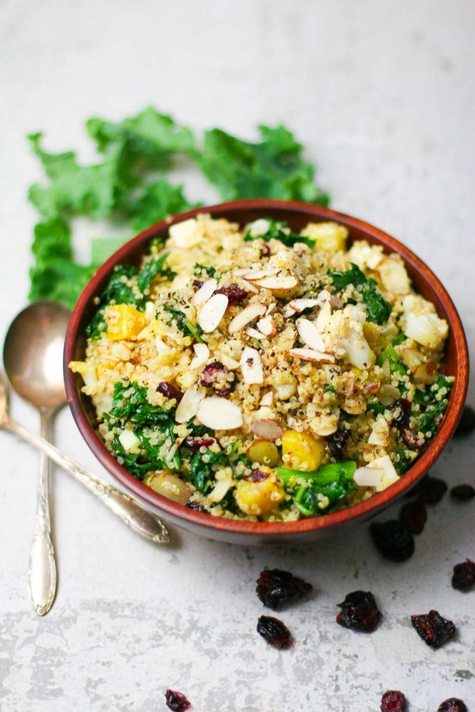 Delicious Bowl of Kale and Quinoa Salad